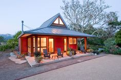Sonoma Guest Cottage / 600 sq ft + 145 sq ft porch / Very nice interior / designed by Rohleder Borgest Architecture / http://smallhouseswoon.com/sonoma-guest-cottage/