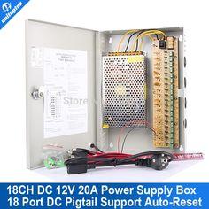 76.50$  Buy now - http://alitiz.worldwells.pw/go.php?t=533574837 - 18 Channel CCTV POWER SUPPLY BOX DC12V 20A 18 Port CCTV Camera Power Box 76.50$