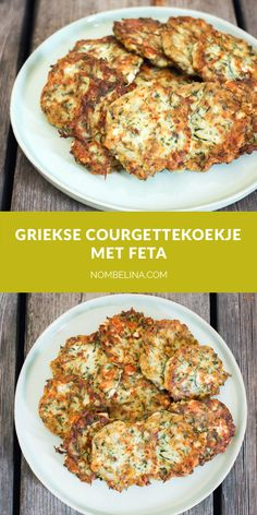 Griekse courgettekoekjes met feta. #recept #vegetarisch Veg Recipes, Greek Recipes, Healthy Recipes, Punch Recipes, Summer Drink Recipes, Summer Drinks, Bbq, Good Food, Yummy Food
