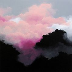 Im in love by the dreamy pink clouds paintings by Sydney born and based Brooklyn Whelan. He is one of Australia's leading/finest emerging contemporary artists, working primarily with acrylics on canvas♥🌸♥ Pink Painting, Painting & Drawing, Pink Clouds, Abstract Landscape, Abstract Art, Landscape Paintings, Chinese Painting, Painting Inspiration, Art Inspo