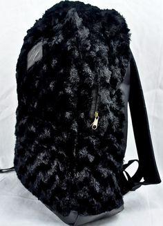 BLACK FUR BACKPACK - product images of | Wishlist | Pinterest ...