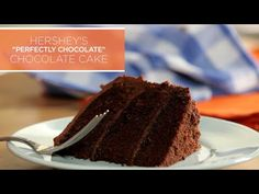 "HERSHEY'S ""Perfectly Chocolate"" Chocolate Cake Recipe @ YouTube AND Hershey's → https://www.youtube.com/watch?v=ffwSy6fIvy4#t=14 AND https://www.hersheys.com/recipes/recipe-details.aspx?id=184&name=HERSHEY%27S-PERFECTLY-CHOCOLATE-Chocolate-Cake"