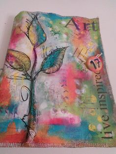 Canvas Art Journal painted with Acrylic paints