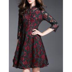 GET $50 NOW | Join Dresslily: Get YOUR $50 NOW!http://m.dresslily.com/flower-buttons-lace-dress-product1810599.html?seid=I4MnIS2CUb8S707OAlG0h0r1A8