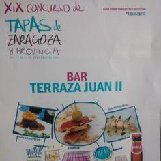 XIX Concurso de Tapas de Zaragoza y Provincia en el Establecimiento Hostelero Bar-Terraza Juan II, en Juan II de Aragón.