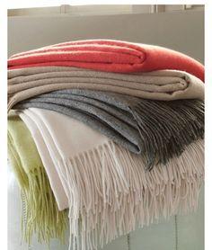wool cashmere throw, Garnet Hill