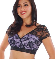 Gypsy Lace Halter Choli Top - LILAC