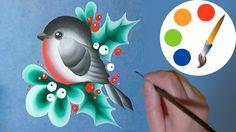 ❄Christmas decoration idea❄, How to paint a bullfinch, double stroke, ir...