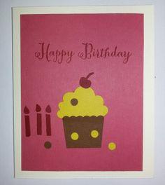 """Geburtstagskarte """"Muffin"""", Klappkarte, Kartenmaß: 8,5 * 10,5 cm mit Umschlag"""