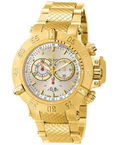 Invicta Men's Chronograph Subaqua Gold-Tone Stainless Steel Bracelet Watch 50mm 5406
