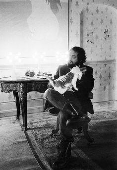 Stanley Kubrick on the set of A Clockwork Orange.