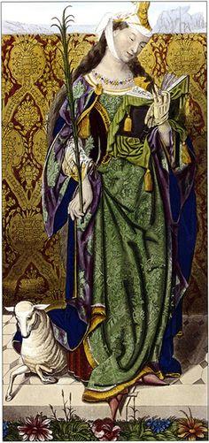 Saint Agnes by Lucas Van Leyden, 1520.