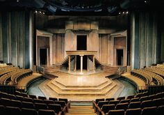 A view from the front; our iconic thrust stage!