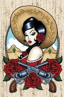 latina tattoo ideas for women ; Chicano Tattoos, Chicano Art, Pin-up-girl Tattoo, Inca Tattoo, Pinup Art, Rockabilly Art, Rockabilly Tattoo Designs, Pin Up Tattoos, Body Art Tattoos