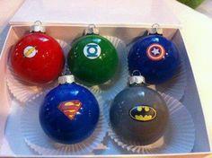 Superhero ornaments