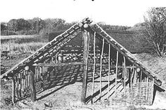 Reconstruction of one of the houses from Limensgård under construction.