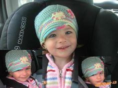 In Czech: Čepička s kšiltem jednoduchá bekovka Brim Hat, Baby Hats, Crochet Baby, Beanie, Cap, Knitting, How To Make, Crocheting, Fashion