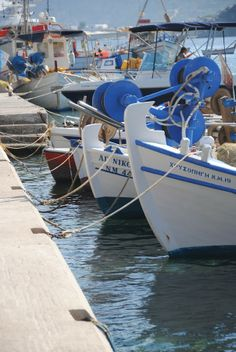 Fishing Boats in Serifos, Greece