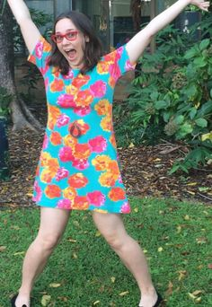 Ruth's bright Coco dress! Sewing pattern by Tilly and the Buttons
