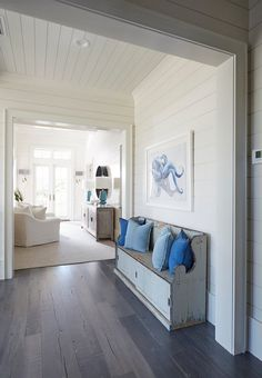 """Best off-white paint color by Benjamin Moore: """"Benjamin Moore OC-17 White Dove"""". Coastal Styling."""