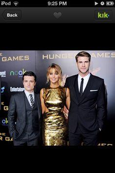 Peeta, Katniss , and Gale!