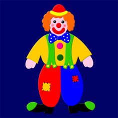 Bricolage : clown à découper et à coller
