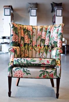 Channel back chair Wingback Accent Chair, Wingback Chairs, Armchair, Home Decor Furniture, Furniture Ideas, Home Decor Kitchen, Home Decor Styles, Home Decor Inspiration, Modern Decor