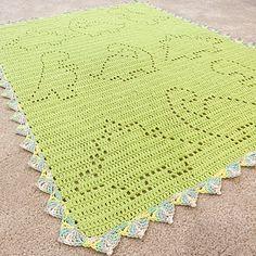 Ravelry: Tripp ( Dinosaur ) Blanket pattern by Owl B. Crochet Dinosaur Patterns, Crochet Patterns Amigurumi, Crochet Blanket Patterns, Baby Blanket Crochet, Baby Patterns, Crochet Baby, Crochet Blankets, Kids Crochet, Crochet Afghans