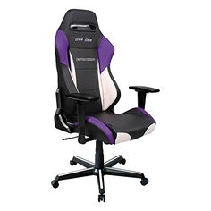 Check out these swiggty-sweet purple racecar gaming chairs.