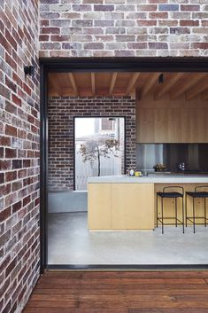 Those Architects transforms Sydney bungalow into spacious home - Architecture Australian Architecture, Residential Architecture, Interior Architecture, Brick Architecture, Brick Facade, Facade House, House Cladding, Recycled Brick, Industrial House