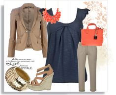 Summer business casual, created by chrisanddesirae on Polyvore