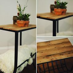 We replaced the top of this table with reclaimed longleaf pine floors! I swear…