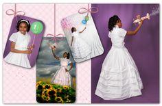 Álbum comunión Aisha, reportaje fotos estudio, book comunión, primera comunión niña, sesión fotos para álbum, invitaciones y recordatorios.