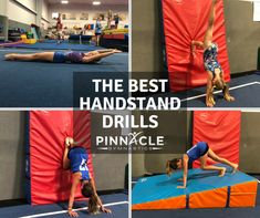 A perfect handstand takes time. Think of the handstand as a building. You must start from the bottom and work your way up. Here is a list of the five best handstand drills. They start out slow and simple, and each builds up to a successful handstand. Gymnastics Classes For Kids, Gymnastics For Beginners, Toddler Gymnastics, Gymnastics At Home, Gymnastics Levels, Gymnastics Lessons, Gymnastics Routines, Preschool Gymnastics, Tumbling Gymnastics