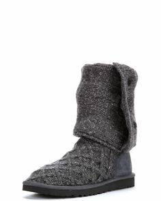 UGG Women's Lattice Cardy Boot - Charcoal