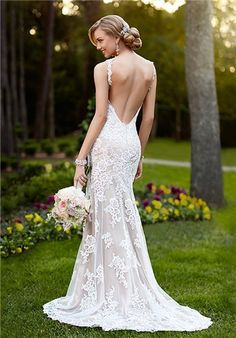 Ivory & Lace by CC's offers the Stella York Bridal wedding dress 5984 at a great price. Call today to verify our pricing and availability for the Stella York Bridal 5984 dress V Neck Wedding Dress, Backless Wedding, Best Wedding Dresses, Wedding Attire, Bridal Dresses, Wedding Gowns, Tulle Wedding, Party Dresses, Garden Wedding