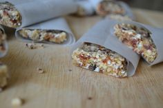 Date/Cherry/Coconut/Ginger/Orange & Coconut Bars - - with Cacao & Chia Seeds.