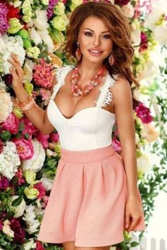 White Pink Padded Skater Dress Wholesale Shoes 96711a3ce