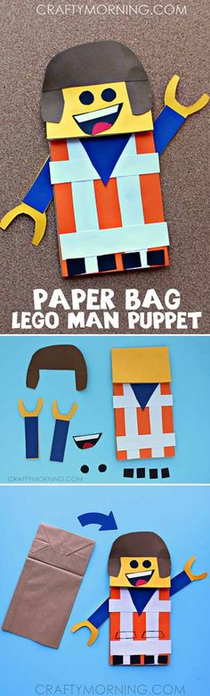 Want to make some fun DIY Lego crafts? If you need some Lego-inspired craft ideas then this list is for you. Grab your supplies and let's start crafting! Summer Crafts For Kids, Crafts For Kids To Make, Fun Crafts, Crafts Cheap, Creative Crafts, Creative Ideas, Diy Craft Projects, Lego Projects, Craft Ideas