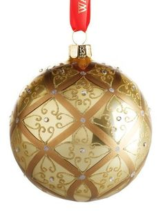 Waterford Holiday Heirlooms Gold Ball Christmas Ornament 153830  Large Celtic Scroll ** You can find out more details at the link of the image.