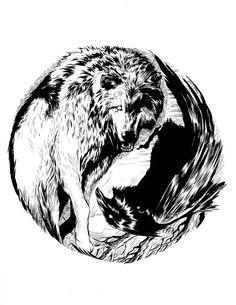Tribal Tattoos, Tribal Wolf Tattoo, Small Wolf Tattoo, Wolf Tattoo Design, Tattoos Skull, Wolf Tattoos, Sleeve Tattoos, Tattoo Designs, Hawk Tattoo