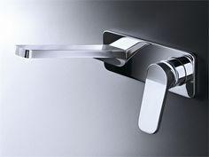 Wall-mounted sink mixer with plate Levante Collection by Fantini Rubinetti | design Rodolfo Dordoni