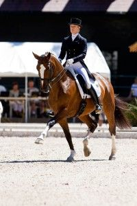 """Arlene """"Tuny"""" Page rides a correct extended trot on Alina. Her 13-year-old…"""