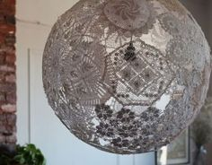 Not Just a Yarn Ball: Super Neat DIY Lampshade