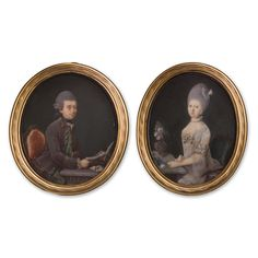 A pair of portrait miniatures of a Gentleman and a Lady, c.1774 Wilhelm Andreas Müller (1733-1816)