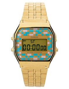 973977121e7 Image 1 of Casio Digital Bracelet Watch A159WGEA-4AEF Casio Digital