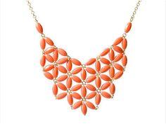flower bib statement necklace