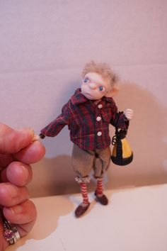 ooak poseable RARE ELF BOY caught ( 207 ) fairy elf pixie art doll by DinkyDarlings