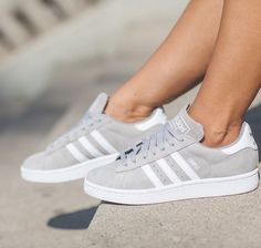 I saw these ones and I know that it are adidas campus shoes but I can only find them for kids and men  so please help me bc they are sooooo cute #outfit #cute #springbreak #white #adidassuperstars #suede #grey #adidasoriginals #adidascampus