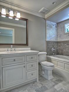 Gray Bathroom Design Traditional